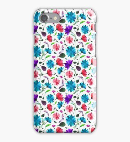 Vibrant Floral Pattern iPhone Case/Skin