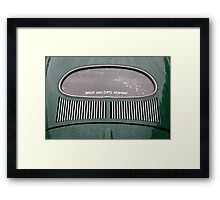 Oval Window Volkswagen Framed Print