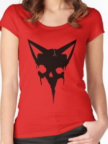 Feline Skull Women's Fitted Scoop T-Shirt