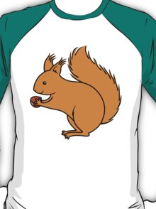 Red Squirrel with Nut T-Shirt