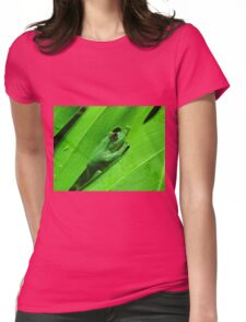 green tree frog Womens Fitted T-Shirt