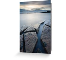 Cracking Rocks Greeting Card