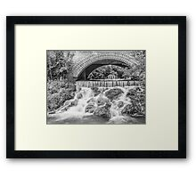 A view from under (black and white Framed Print