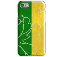 Chinese Flowers & Stripes - Purple Yellow Green Blue iPhone Case/Skin