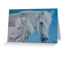 """""""Rosie and Filou"""" - Horse portraits Greeting Card"""