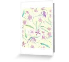 Water colour pink palm Greeting Card
