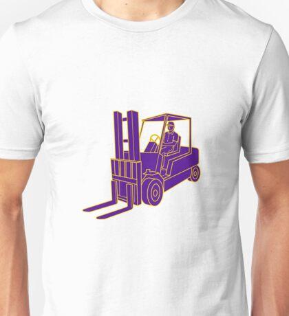 Forklift Truck Mono Line Unisex T-Shirt