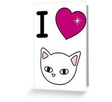 I love meow Greeting Card