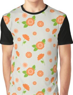 A seamless pattern with pink flowers of different sizes Graphic T-Shirt