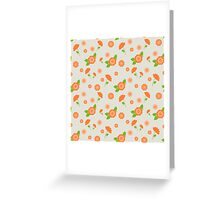 A seamless pattern with pink flowers of different sizes Greeting Card