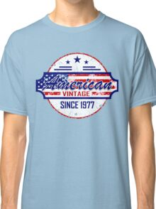 40th Birthday Gift American Vintage Since 1977 Classic T-Shirt