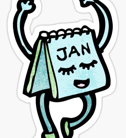 cartoon calendar Sticker