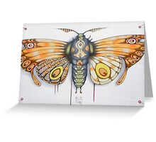 orange moth  (original sold) Greeting Card