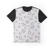 Pattern with jewelry goods such as diamonds, gemstones and rings Graphic T-Shirt