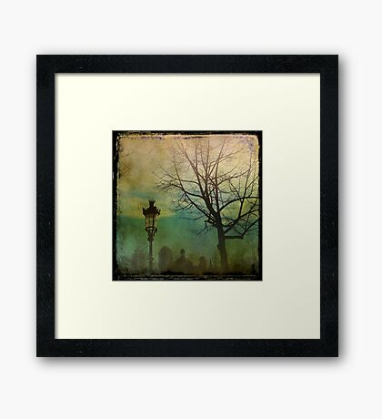 Once upon a time a park in Barcelona Framed Print
