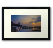Reculver Towers sunset Framed Print
