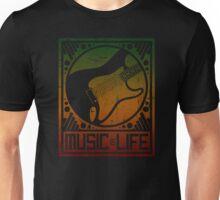 Music is Life: Guitar Strat Unisex T-Shirt