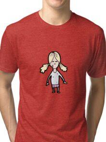 cartoon blond girl Tri-blend T-Shirt