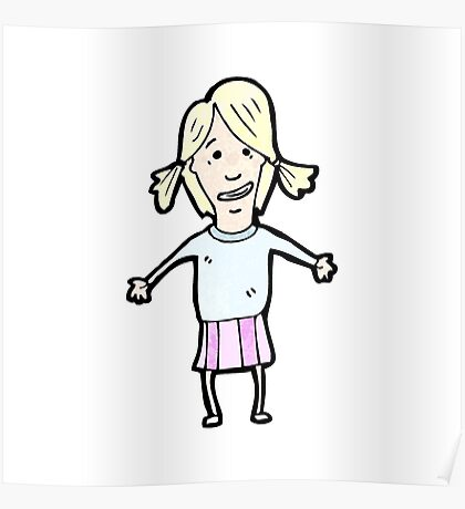 cartoon blond girl Poster