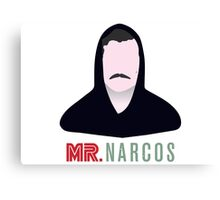 Mr. Narcos - Crossover Mr. Robot & Narcos Canvas Print
