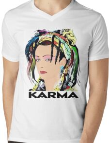 KARMA  Mens V-Neck T-Shirt