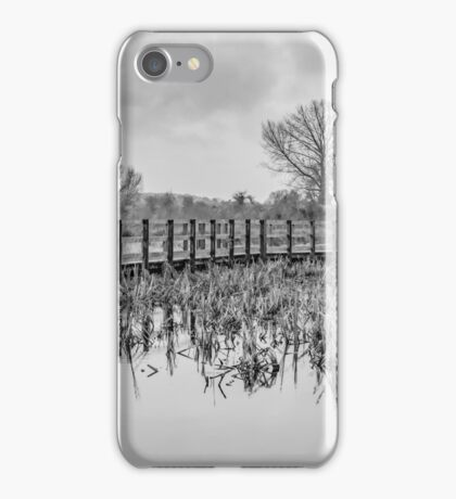 Dancing trees (black and white) iPhone Case/Skin