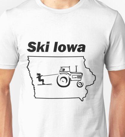 Ski Iowa Funny Tractor Shirt Unisex T-Shirt