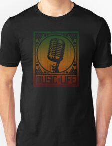 Music is Life: Mic Unisex T-Shirt