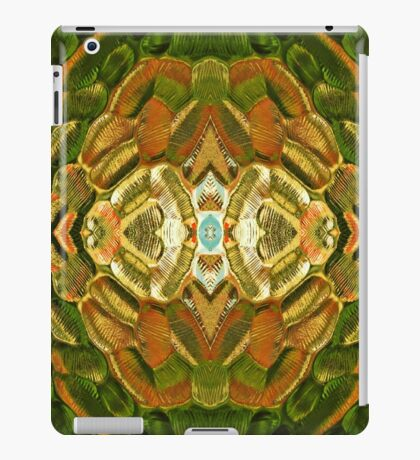 colorful abstract textured glass pattern iPad Case/Skin