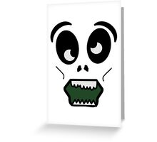 Cartoon Zombie Face Funny Zombie T Shirts Greeting Card