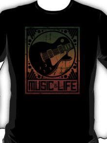 Music is Life: Guitar T-Shirt