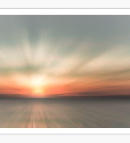 Sunset over Isle Sheppy 2 Sticker