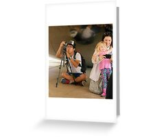Two Photographers Greeting Card