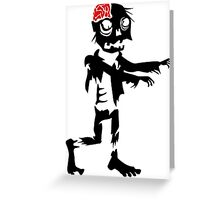 Zombie Funny Zombie T Shirts Greeting Card