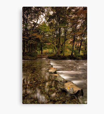 Rosthwaite Stepping Stones Canvas Print