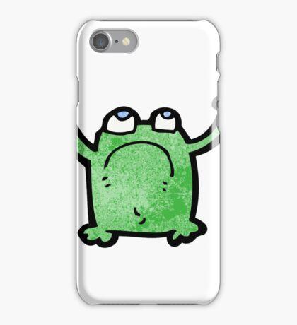 cartoon unhappy frog iPhone Case/Skin