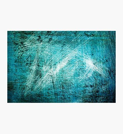 Blue and green grunge background  Photographic Print