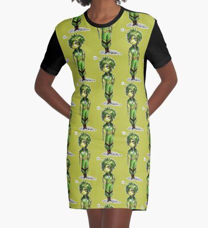 Human plants - Aloe Arborescens Graphic T-Shirt Dress