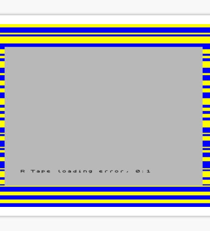 ZX Spectrum Loading Error Sticker