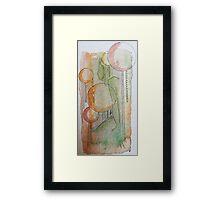 woman in bubble Framed Print