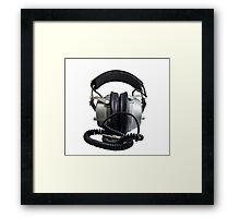 Old style headphone Framed Print