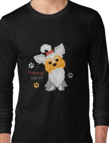 silver blue and pale cream Yorkshire terrier Long Sleeve T-Shirt
