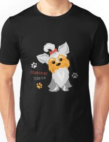 silver blue and pale cream Yorkshire terrier Unisex T-Shirt