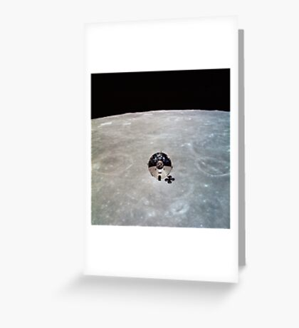 The Apollo 10 Command and Service Modules in lunar orbit. Greeting Card