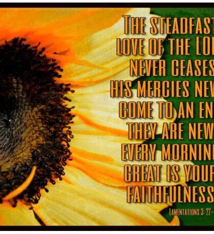 The Steadfast love of the Lord Sunflower Art Sticker