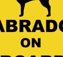 Labrador on board Sticker