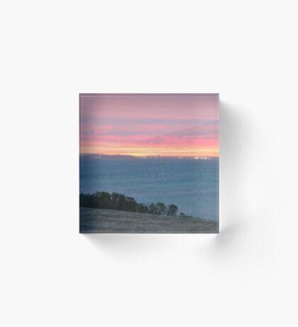 Sunset Pink Acrylic Block