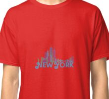 New York Colorful Skyline Classic T-Shirt