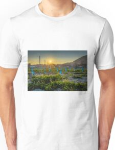 Sunset flare over the young cabernet Unisex T-Shirt