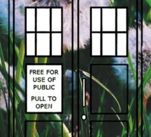 Dandelion TARDIS Sticker